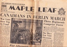 The Maple Leaf May 19 1945 London, volume 1. no. 1