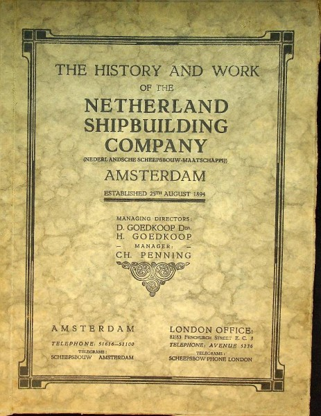 The History and Work of the Netherland Shipbuilding Company