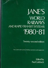 Janes World Railways and Rapid Transit Systems 1980-81