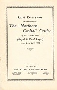 Brochure Royal Holland Lloyd, the Northern Capital Cruise, land excursions
